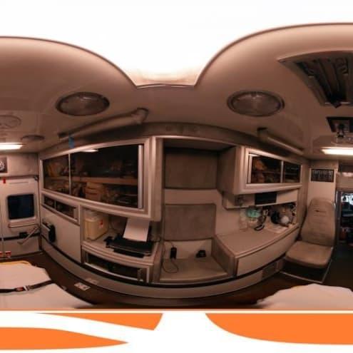 Panorama of an ambulance