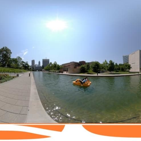 Panorama of the Indianapolis Canal