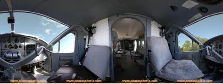 Panorama of a cockpit