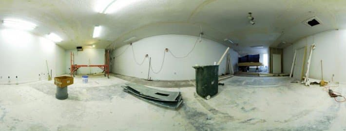 Panorama of a construction area