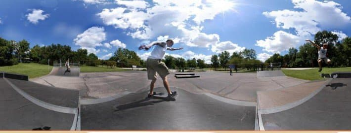 Panorama of a Skate Boarder