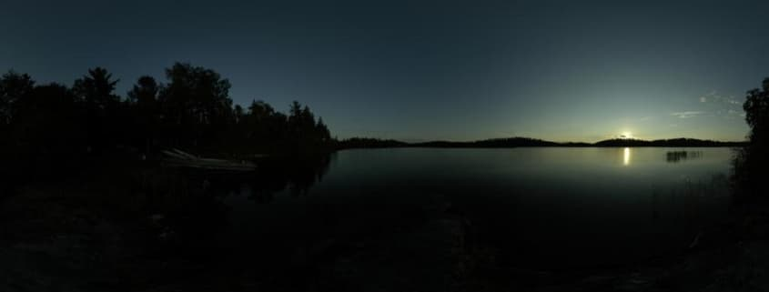 360 view of a sunset
